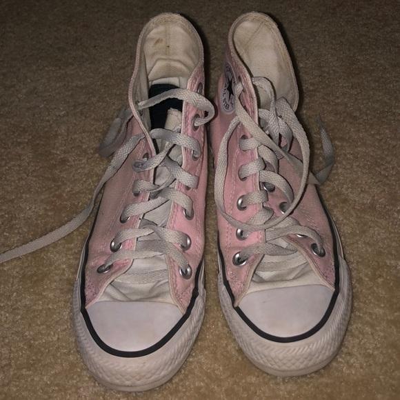 Converse Shoes   Custom Light Pink High